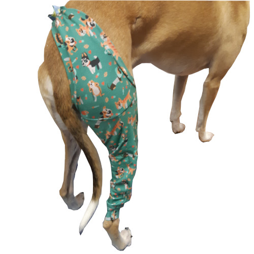 Recovery sleeve for right hind foot